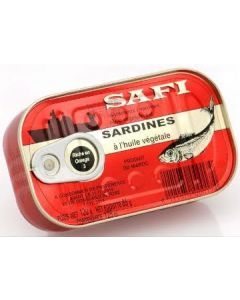 Safi - Sardines with Vegetable Oil - 125g / 50 pieces per box