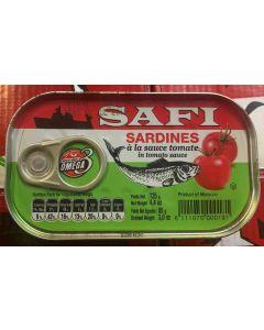 Safi - Sardines with Tomato Sauce - 125 g / 100 pieces per box