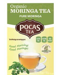 Pocas Tea - Organic Moringa Tea - Pure Moringa - 6 Pack