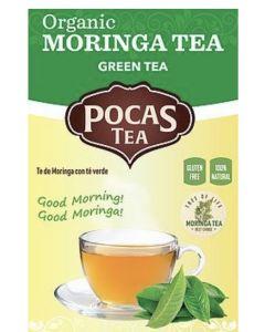 Pocas Tea - Organic Moringa Tea - Green Tea - 6 Pack