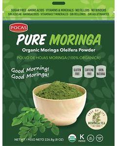 Pocas Tea - Pure Moringa Powder - 1 box (6 bags x 8 oz)